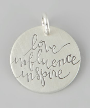 Sterling Silver 'Love Influence Inspire' Charm