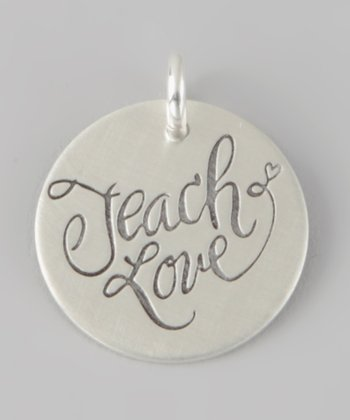 Sterling Silver 'Teach Love' Charm