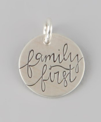 Sterling Silver 'Family First' Charm