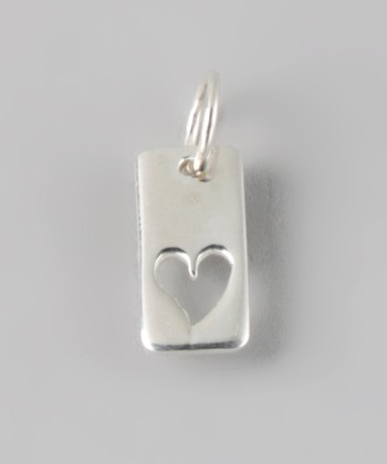 Sterling Silver You Carry My Heart Cutout Rectangle Charm