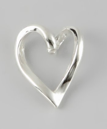 Sterling Silver Slide Heart Charm