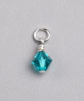 Blue Zircon Swarovski Crystal December Charm
