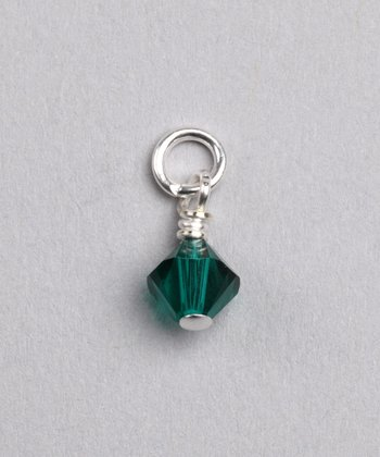 Emerald Swarovski Crystal May Charm