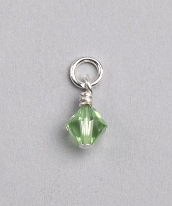 Green Swarovski Crystal August Charm