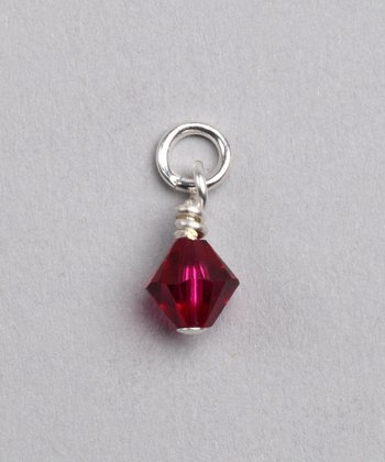 Ruby Swarovski Crystal July Charm