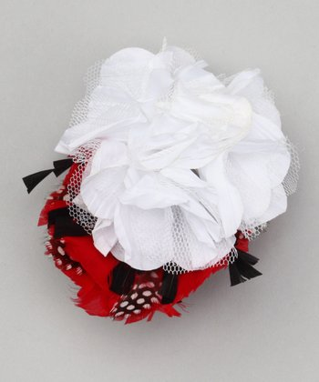 Fab Flowerishes Red & White Ravish Wristlet
