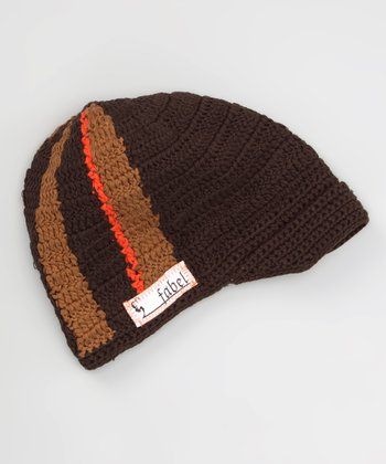 Chocolate & Tan Stripe Chill Beanie