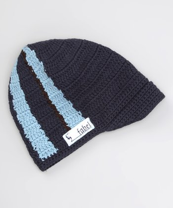 Navy & Light Blue Stripe Chill Beanie