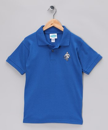 Royal Blue Skier Polo - Boys & Adult