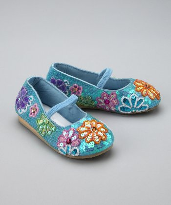 Blue Flower Party Flat