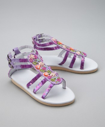 Purple Garden Gladiator Sandal