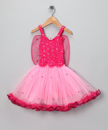 Fuchsia Angel Dress - Toddler & Girls