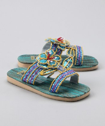 Blue Flower Pot Sandal