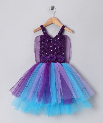 Dark Purple Ava Dress - Toddler & Girls