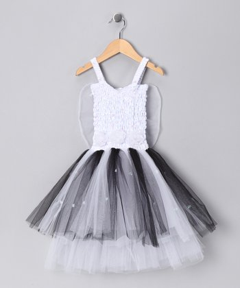 White & Black Ava Dress - Toddler & Girls