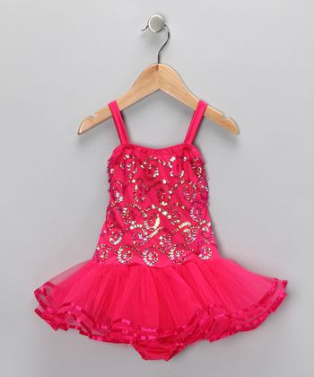 Fuchsia Chloe Skirted Leotard - Infant, Toddler & Girls