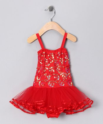 Fairy Dreams Red Chloe Skirted Leotard - Infant, Toddler & Girls