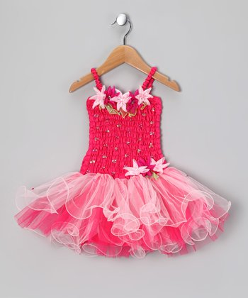 Fuchsia Flora Dress - Toddler & Girls