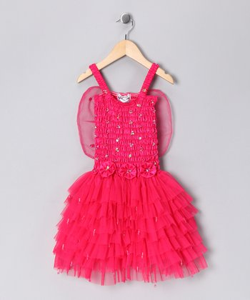 Fuchsia Fairy Dress - Girls