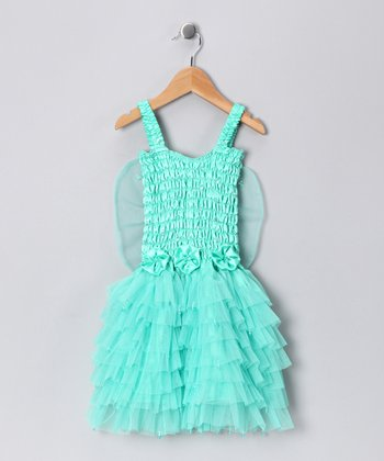 Mint Fairy Ruffle Dress - Toddler & Girls