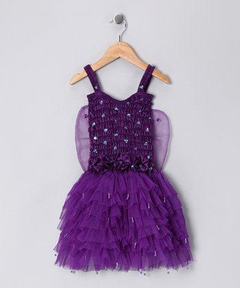 Dark Purple Fairy Dress - Girls