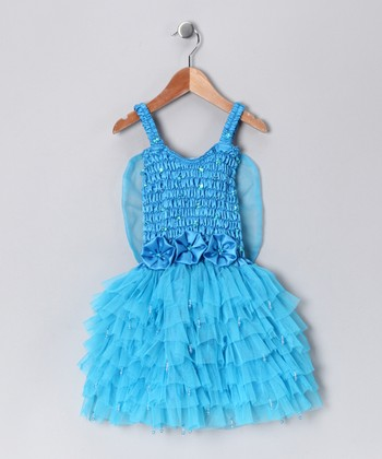 Turquoise Fairy Dress - Toddler & Girls