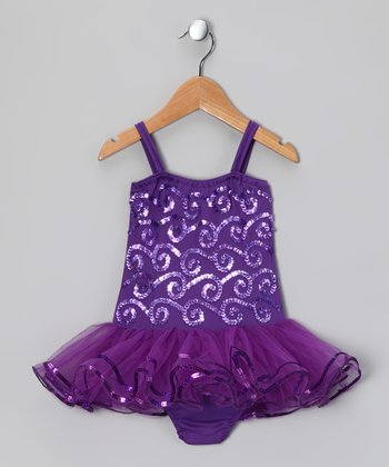 Dark Purple Ruby Skirted Leotard - Infant, Toddler & Girls