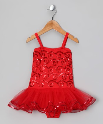 Red Ruby Skirted Leotard - Infant, Toddler & Girls