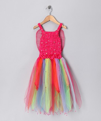 Fuchsia Rainbow Seraphina Dress - Toddler & Girls