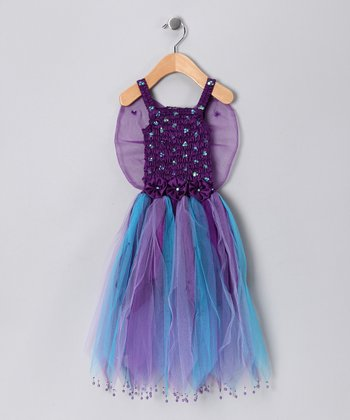 Dark Purple Seraphina Dress - Toddler & Girls