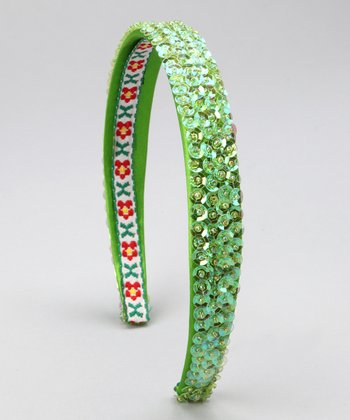 Lime Sequin Headband