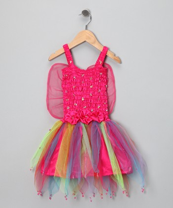 Fuchsia Rainbow Dress - Toddler & Girls