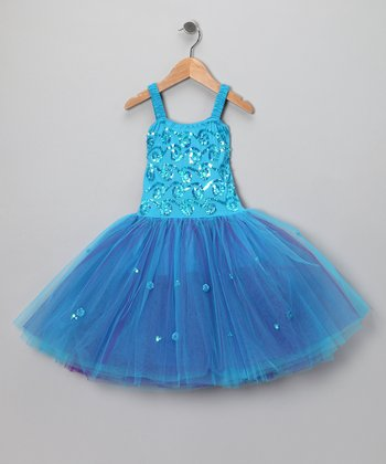 Turquoise Sophie Dress - Girls