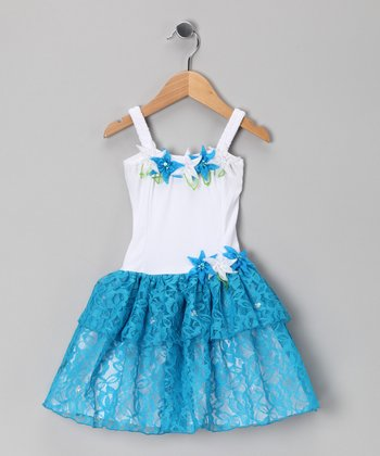 Turquoise Tiffany Dress - Toddler & Girls