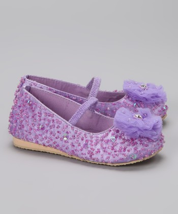 Purple Puff Flower Flat