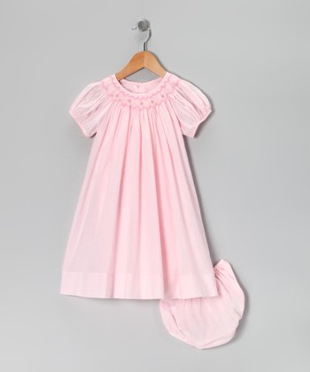 Pink Bishop Dress & Diaper Cover - Infant