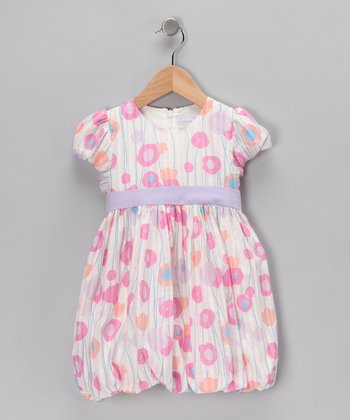 Pink Tulip Bubble Dress - Toddler