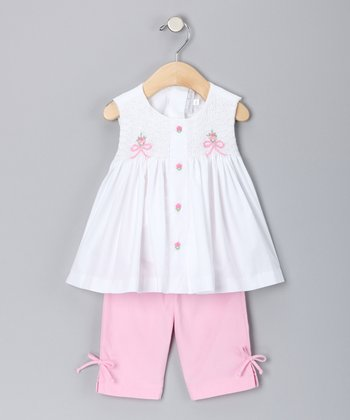 Pink Rosette Swing Top & Pants - Toddler