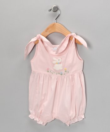 Pink Bunny Bubble Romper - Infant