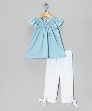 Blue Angel-Sleeve Top & Pants - Infant & Toddler