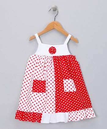 Red Pocket Babydoll Dress - Infant, Toddler & Girls