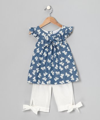 Navy Bow Swing Top & Pants - Infant, Toddler & Girls