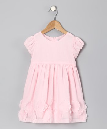 Pink Flower Appliqué Dress - Infant