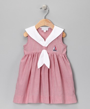 Red Stripe Sailor Dress - Infant
