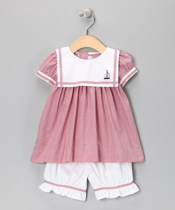 Red Stripe Sailor Swing Top & Bloomers - Infant