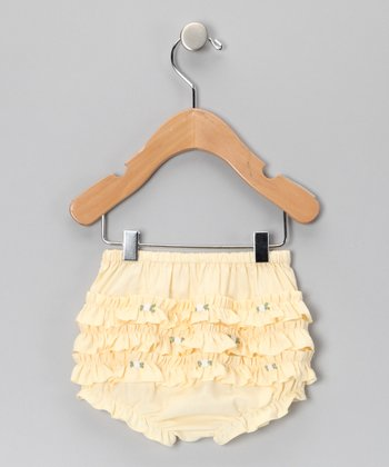 Yellow Rosette Ruffle Bloomers - Infant