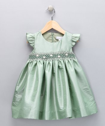 Mint Smocked Daisy Dress - Infant, Toddler & Girls