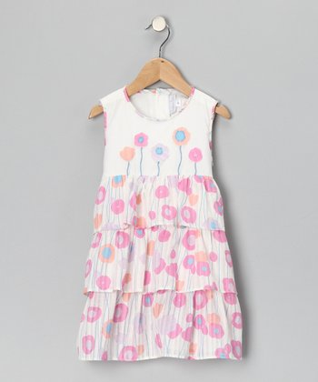White Tulip Tiered Dress - Infant, Toddler & Girls