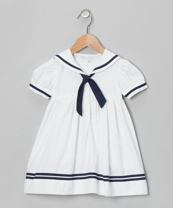 White Sailor A-Line Dress - Infant & Toddler