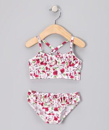 Red Floral Bikini - Infant